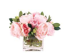 Peony Pink in Glass Cube  - NDI  | domino.com