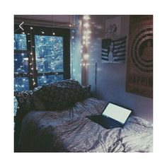 Snow days ️ Like for more tumblr rooms Tip try to make diys instead if... ❤ liked on Polyvore featuring bedrooms and pictures