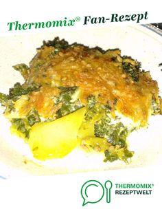 Grünkohl-Auflauf von bronko12. Ein Thermomix ® Rezept aus der Kategorie Hauptgerichte mit Fleisch auf www.rezeptwelt.de, der Thermomix ® Community. Quiche, Warm, Chicken, Breakfast, Food, Gratin, Souffle Dish, Glutenfree, Meat Dish