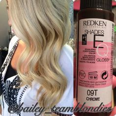My fave go-to toner for the prettiest blondes! Perfect Blonde Hair, Ash Blonde Hair, Blonde Color, Beauty Secrets, Beauty Hacks, Beauty Tips, Hair Color Formulas, Redken Shades Eq, Cool Hair Color