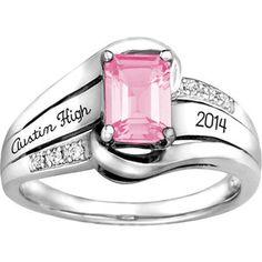 22a3206e985 Keystone Emerald Fashion Class Ring Class Rings For Girls