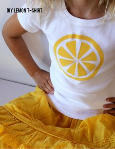 Kids Lemon T-Shirt // aliceandlois.com