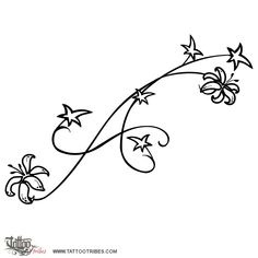 small flower lily tattoos - Google Search