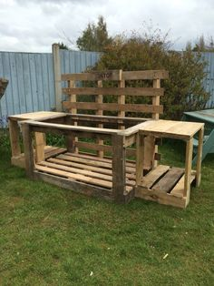 Kids kitchen play area ready for the customers old kitchen sink to be put in, made out of 3 pallets