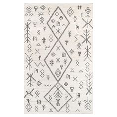 Peruvian inspired motifs cover this rug to add character to a variety of different spaces--living room, hallway, or even baby room. Due to the handmade quality of our rugs, they may vary slightly in size and/or color. Rug pattern is scaled to rug size and may vary from the images shown. EMAIL FOR AVAILABILITY.