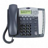 AT 4-Line 16 Stations Speakerphone with Answering System and Caller ID/Call Waiting in Titanium Blue (Model# 984) by AT $179.66. Features:   * 4-line corded expandable telephone with digital answering machine  * The AT 984 replaces the AT 964  * Compatible with the AT 974, AT 945, and the older models, AT 944, AT 955, AT 964  * 1 to 4 line capability  * Speakerphone  * Intercom  * Paging  * Expandable up to 16 stations (the maximum number of ...