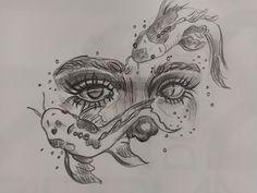 Girl Drawing Sketches, Art Drawings Sketches Simple, Pencil Art Drawings, Cool Drawings, Drawing Ideas, Aesthetic Drawing, Aesthetic Art, Desenho New School, Arte Sketchbook