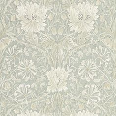 Morris & Co Tapet Pure Honeysuckle & Tulip Grey Blue - - Morris & Co Tapet Pure. - Morris & Co Tapet Pure Honeysuckle & Tulip Grey Blue - - Morris & Co Tapet Pure Honeysuckle & Tulip Grey Blue pure morris north - William Morris Tapet, William Morris Wallpaper, Morris Wallpapers, Blue Wallpapers, Wallpaper Online, Wallpaper Samples, Print Wallpaper, Fabric Wallpaper, Wallpaper Roll