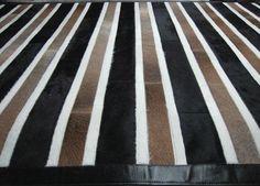 RAW Leather Argentina - COWHIDE Patchwork  RUGS  - Handmade 6' x 8'
