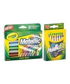 Look what I found on #zulily! Crayola Metallic Art Set #zulilyfinds