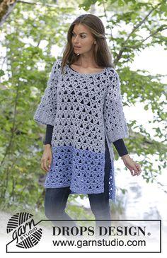 46 Ideas crochet poncho sweater pattern drops design for 2019 Pull Crochet, Crochet Baby Hats, Crochet Clothes, Free Crochet, Crochet Top, Ravelry Crochet, Crochet Socks, Crochet Summer, Crochet Cardigan Pattern