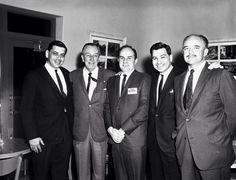 Bob Sherman, Walt Disney, Don DaGradi, Dick Sherman and Bill Walsh