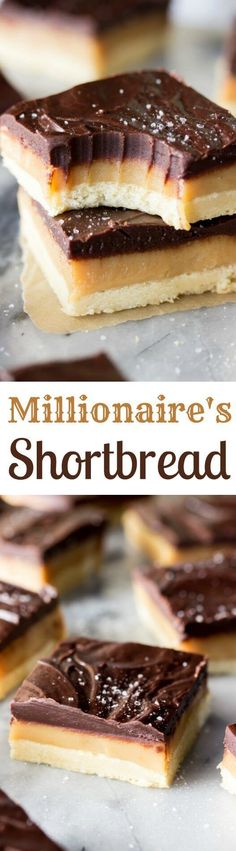 Millionaire's Shortbread, a rich and delicious dessert Sugar Spun Run via Weight Watcher Desserts, Fun Desserts, Delicious Desserts, Dessert Recipes, Bar Recipes, Kitchen Recipes, Recipies, Low Carb Dessert, Dessert Bars