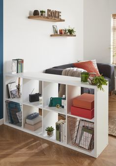 A bookcase is the ideal place to show off some of your favourite items. Mix with plants, photo frames and co-ordinating colours for a beautifully curated space. Why not use it as an interesting space divider within a multi-purpose room.