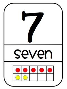 Number concept puzzles: print out, cut in 1/3's then children match the number to the word to the ten frame