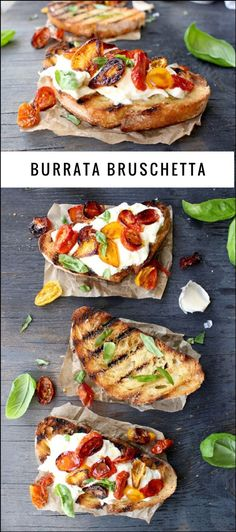 Burrata Bruschetta Recipe | http://CiaoFlorentina.com