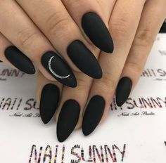 A manicure is a cosmetic elegance therapy for the finger nails and hands. A manicure could deal with just the hands, just the nails, or Black Stiletto Nails, Matte Black Nails, Black Nail Art, Black Almond Nails, Black Manicure, Gel Manicure, Black Ombre Nails, Almond Nail Art, Black Coffin Nails