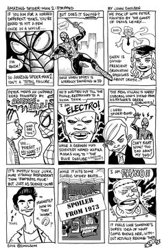 Comic Book Strip Review Of THE AMAZING SPIDER-MAN 2 Sums The Movie Up Perfectly