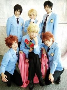 Ouran High School Host Club Cosplay- I loved this anime it was so fun Cosplay Anime, Epic Cosplay, Cosplay Makeup, Amazing Cosplay, Cosplay Outfits, Cosplay Wigs, Cosplay Costumes, Colégio Ouran Host Club, L Death