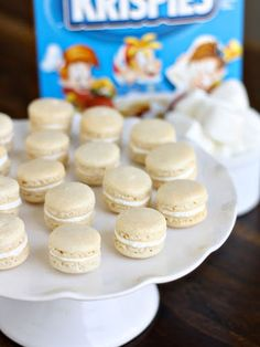 Looking for something slightly more elegant? Try baking macarons and adding crushed Rice Krispies in the buttercream. Get the recipe at Dinner or Dessert.   - Cosmopolitan.com