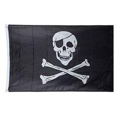 Bandera de calavera pirata Esta bandera pirata es adecuada para los clubes, hoteles, casas, mobiliario, eventos, fiestas, decoraciones, etc.).