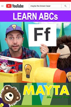 Learn the Alphabet! ABCs for kids with Mayta and B. Mayta and B use toys delivered by The Idea Train to introduce each letter. Mayta The Brown Bear features educational learning videos for children. Baby Learning Videos, Toddler Learning, Toddler Activities, Fun Activities, Abc Alphabet, English Alphabet, Learning The Alphabet, Alphabet For Toddlers, Choo Choo Train