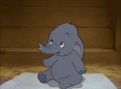 Dumbo, i can honestly only look at this for second and then I have to look away, it's just that cute