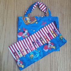 Toddler Tote Bag  Crayon Roll  Pirates  Jake  by Sewing4Babies