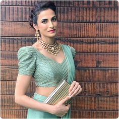 Have a look at the latest blouse designs trends for this year. Blouse Back Neck Designs, Fancy Blouse Designs, Saree Jacket Designs Latest, Sleeves Designs For Dresses, Sleeve Designs, Designer Blouse Patterns, Designer Dresses, Stylish Blouse Design, Saree Blouse