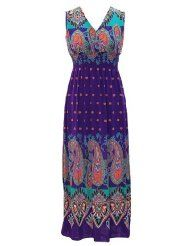 Exotic Tahiti Multicolor Border Print Maxi Dress  http://thestyletown.com/dresses/dresses_casual