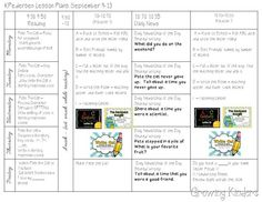 Growing Kinders Lesson Plans