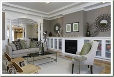 Love this color combo for our master: Ceiling  SW 7668  March Wind 50% Trim     SW 7006 Extra White Walls    SW 7019 Gauntlet Gray