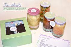 Eingelegte Birnen, Manschgemüse, Apfel im Teigmantel und Kalter Hund