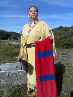 Native American Woman in Traditional Regalia