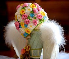 Beautiful crochet embellished hat