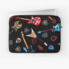 """""""Electric Rock Guitars"""" Laptop Sleeve by HavenDesign 