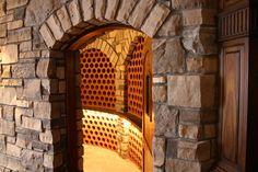 masterpiece wine celler using Masonal Stone natural veneer