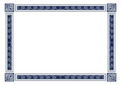 Diplomas Online | Plantillas para diplomas y certificados con bordes azules sin fondo