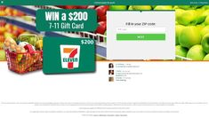 Win a $200 7-11 Gift Card FREE  Gift Card Sweepstakes are very popular. Win a gift cards to any 7-11.   For US ONLY