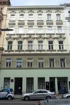 Klimt Haus, Westbahnstraße 36, 1070 Wien Gustav Klimt verbrachte hier die letzten Jahre seines Lebens 1898 -1918. Vienna Austria, Gustav Klimt, New Construction, Art Nouveau, Architecture, House