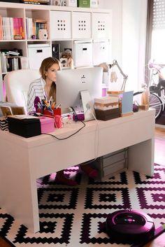 Home Office / Workstation / Desk Area – Decoration ideas Home Office Space, Small Office, Home Office Design, Chic Office Decor, Office Inspo, Luxury Office, Office Workstations, Work Station Desk, Desk Areas
