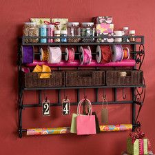 Lynbar Wall Mount Craft Large Storage Rack with Baskets...Needed for storage room