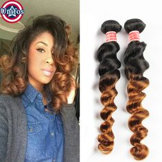 Find More Human Hair Extensions Information about Blonde Ombre Brazilian Virgin Hair Loose Wave Two Tone Brazilian Human Hair Extensions 2pc Ombre Brown Ombre Burgundy Loose Wave,High Quality hair cleansing,China hair rollers short hair Suppliers, Cheap hair clippie from Unifos Hair Products Co.,Ltd. on Aliexpress.com