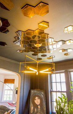 Diy Sunburst Ceiling Medallion Amp Ikea Honefoss Mirrors