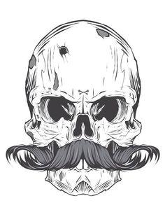 Skull mostacho