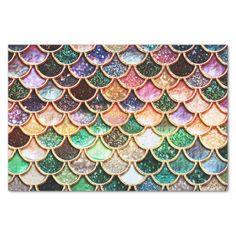 Luxury Glitter Mermaid Scales - Multicolor Tissue Paper
