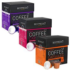 Nespresso Compatible Gourmet Coffee Capsules60 Pod Variety Pack for Original Line Nespresso Machine Bestpresso Brand Certified Genuine Espresso Intense Variety Pack 60 Days Guarantee * You can get more details by clicking on the image.