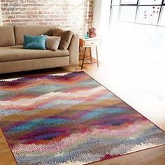 "Amazon.com: Distressed Modern Geometric Multi Soft Area Rug 7'10"" x 10'2"": Kitchen & Dining"