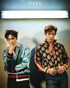Kai e Chanyeol para a 'Vogue Korea' - EXO
