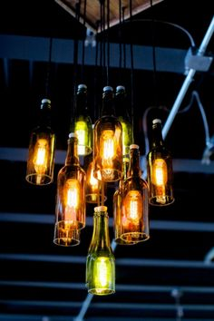 Wine Bottle Chandelier | aftcra